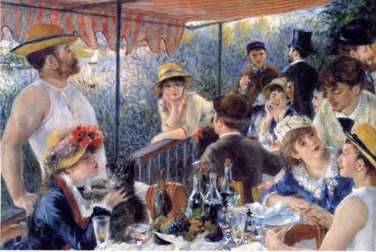 """Pierre Auguste Renoir """"Le déjeuner des Canotiers·"""